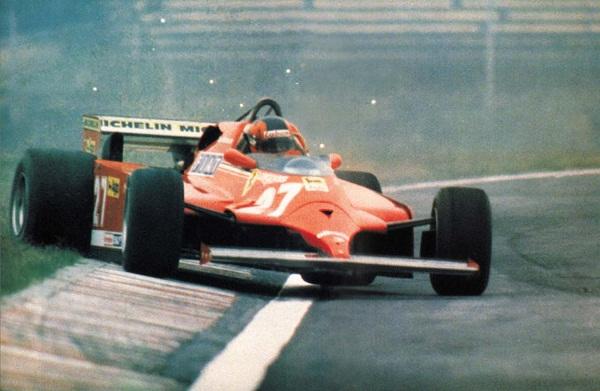 Ferrari 126CK. 1981. Gilles Villeneuve