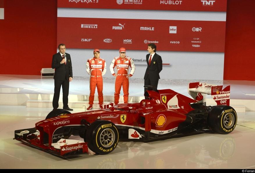 Ferrari F138. 2013. Presentación del monoplaza