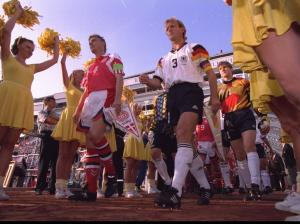 DENMARK V GERMANY PLAYERS WALK O