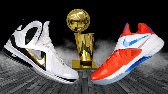 NBA Finals Nike LeBron IX Elite&KD IV Shoes