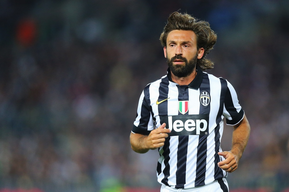 SYDNEY, AUSTRALIA - AUGUST 10:  Andrea Pirlo of Juventus looks on during the match between the A-League All Stars and Juventus at ANZ Stadium on August 10, 2014 in Sydney, Australia.  (Photo by Joosep Martinson/Getty Images)